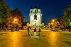 Christus de Verlosserkathedraal, Kaliningrad Stock Afbeeldingen