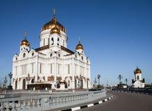 Christus de Verlosserkathedraal in Moskou Stock Afbeelding