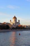 Christus de Verlosserkathedraal. Moskou, Rusland Stock Afbeelding