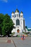 Christus de Verlosserkathedraal in Victory Square in Kaliningrad Royalty-vrije Stock Afbeelding