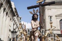 Christus der Bruderschaft des Sun, Ostern in Sevilla Lizenzfreie Stockfotos