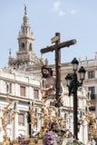 Christus der Bruderschaft des Sun, Ostern in Sevilla Stockfotos