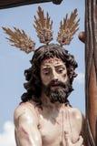 Christus der Bruderschaft des Sun, Ostern in Sevilla Lizenzfreie Stockbilder