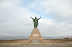 Christus des Friedensmonuments - Arica - Chile Stockbild