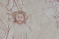 Christus die de kroon van doornen dragen stock fotografie