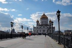 Christus die Erlöser-Kirche in Moskau Stockfotos