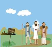 Christus in Emmaus Royalty-vrije Stock Foto's
