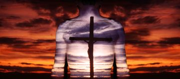 Christus en kruis Stock Foto's