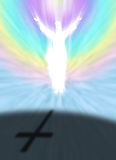 Christus en Pasen-symbool met Dwarsschaduw vector illustratie
