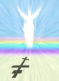 Christus en Pasen-symbool met Orthodoxe Dwarsschaduw vector illustratie
