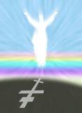 Christus en Pasen-symbool met Orthodoxe Dwarsschaduw stock illustratie