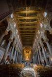 Christus-Fresko innerhalb Monreale-Kathedrale nahe Palermo Lizenzfreie Stockfotos