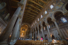 Christus-Fresko innerhalb Monreale-Kathedrale nahe Palermo Lizenzfreies Stockfoto
