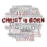 Christus is geboren Stock Afbeeldingen