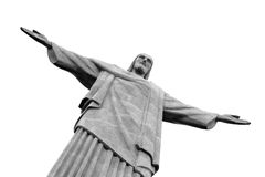 Christus het Standbeeld van de Verlosser, Rio de Janeiro, Brazilië Stock Foto's