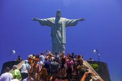 Christus het Verlosserstandbeeld, RIO ` S BIJ VOLLEDIGE DAG royalty-vrije stock afbeelding