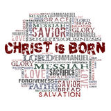 Christus ist geboren Stockbilder