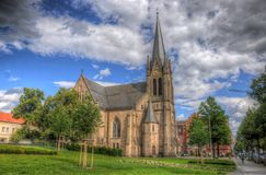Christus Kirche (Church), Fulda, Hessen, Germany Royalty Free Stock Images