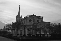 Christus-Kirche, historische Christus-Kirche auf dem blauer Himmel backgroun Stockbild