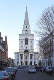 Christus-Kirche Spitalfields Lizenzfreies Stockbild