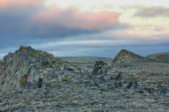 Christus leefde in steen polaire woestijn 40 dagen noordpool Royalty-vrije Stock Foto