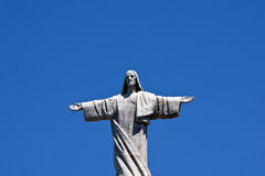 Christus-Monument, Garajau, Madeira Lizenzfreies Stockfoto