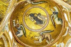 Christus-Mosaik in Palermo Lizenzfreies Stockfoto