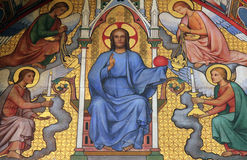 Christus in Oordeel stock afbeeldingen
