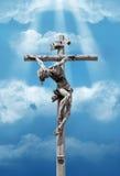 Christus op het kruis Stock Foto's