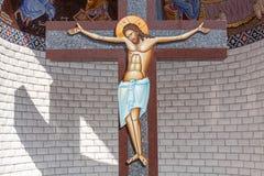 Christus op het Kruis stock afbeelding