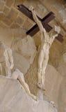 Christus op het Kruis in Sagrada Famila Stock Fotografie