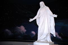 Christus Replica. Replica statue of Jesus Christ known as The Christus at the Mormon visitor's center at Temple Square, Salt Lake City, Utah royalty free stock images