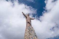 Christus-Statue in Bolivien Lizenzfreie Stockfotos