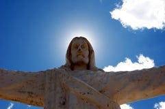 Christus statue Cusco - Peru South America. Christus statue Cusco with blue sky - Peru South America royalty free stock photos