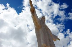 Christus statue Cusco - Peru South America. Christus statue Cusco with blue sky - Peru South America stock images