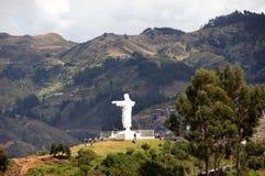 Christus statue Cusco - Peru South America. Christus statue Cusco with blue sky - Peru South America stock image