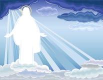 Christus is toegenomen - de Verrijzenis royalty-vrije illustratie