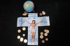Christus und Geld lizenzfreies stockbild