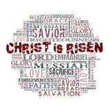 Christus wird gestiegen Stockbild
