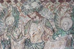 Christus zeigt seine Hände Lizenzfreie Stockfotos