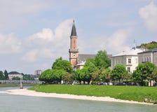 Christuskirche i Salzburg Arkivbild