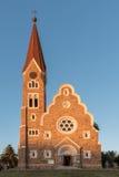 Christuskirche in Windhoek at sunset Stock Photos