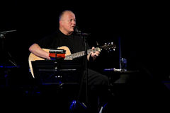 Christy Moore perform onstage in Ballinasloe Royalty Free Stock Photos