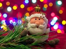 Chritmas树玩具,圣诞老人 库存照片