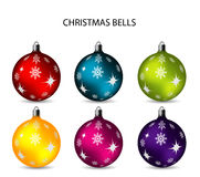 Chritmas balls full color Royalty Free Stock Photography