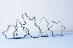 Chritmas cookie cutters Stock Images