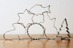 Chritmas cookie cutters Stock Image