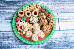 Chritmas cookie platter Stock Photo
