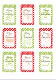 Chritmas Gift Tags royalty free stock photography