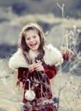 Chritmas Mädchen Stockfotografie